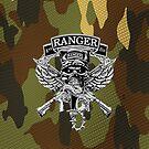 1st Ranger Bn camo (iPhone case) by Walter Colvin