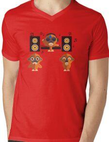 Hear No Evil, See No Evil, Play No Evil Mens V-Neck T-Shirt