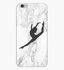 Marmor Gymnast Silhouette iPhone-Hülle & Cover