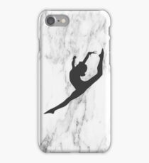 Marble Gymnast Silhouette  iPhone Case/Skin