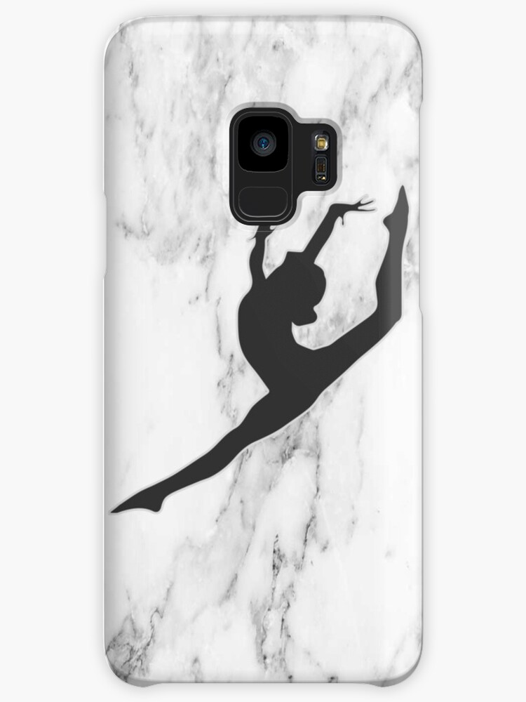 marble gymnast silhouette cases skins for samsung galaxy by