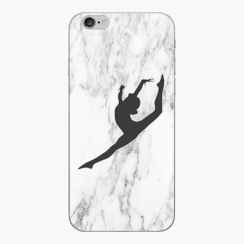 Marmor Gymnast Silhouette iPhone Klebefolie