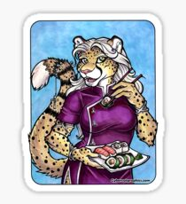 Sushi Cheetah  Sticker