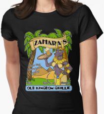 Zahara's Old Kingdom Grille Restaurant Parody  Women's Fitted T-Shirt