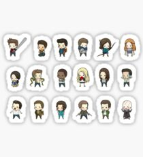 Teen Wolf Chibi Set Sticker