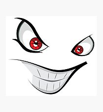Evil face with red eyes Photographic Print