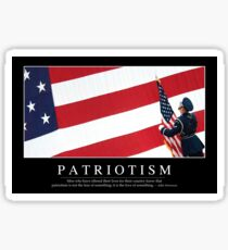 Patriotism: Inspirational Quote and Motivational Poster Sticker