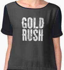Gold Rush Logo Chiffon Top