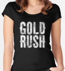 Gold Rush Logo Women's Fitted Scoop T-Shirt