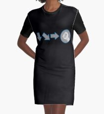 Special Combo Fight Move Graphic T-Shirt Dress
