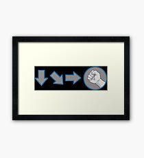 Special Combo Fight Move Framed Print