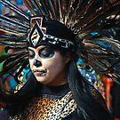 Dia do Los Muertos Dancer by Barbara  Brown