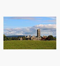 Quin Abbey in Rural Ireland Photographic Print