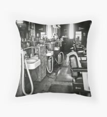barber shop Throw Pillow