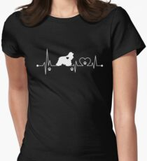 Heartbeat Dog Cocker Spaniel Womens Fitted T-Shirt