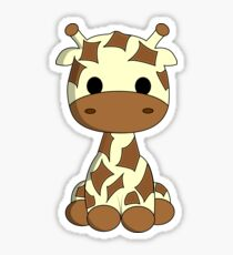 Cute baby giraffe cartoon Sticker
