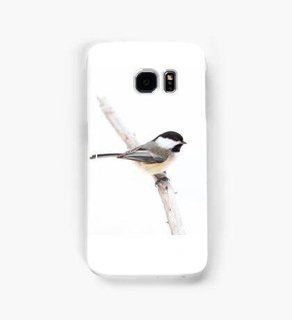 Black-capped Chickadee in winter Samsung Galaxy Case/Skin