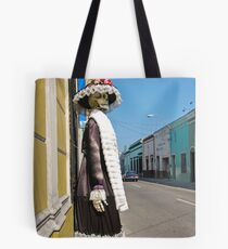 waiting to cross....where?Merida.   Solved in 16&25 by Estelle O'Brien and richiedean ... (different answers) Tote Bag