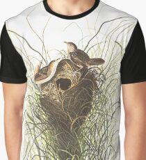 Sedge Wren - John James Audubon Graphic T-Shirt