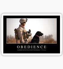 Obedience: Inspirational Quote and Motivational Poster Sticker