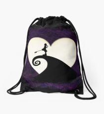 Halloween Moon Drawstring Bag
