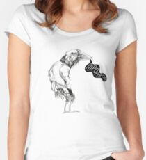 Dark human crow Women's Fitted Scoop T-Shirt