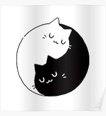 Yin Yang Kittens Posters Redbubble