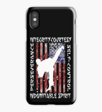 American Martial Arts 5 Tenates of Taekwondo iPhone Case/Skin