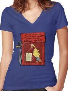 Pirate invasion kit Women's Fitted V-Neck T-Shirt