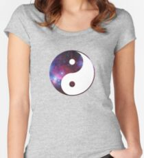 Ying and yang galaxy Women's Fitted Scoop T-Shirt
