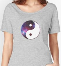 Ying and yang galaxy Women's Relaxed Fit T-Shirt