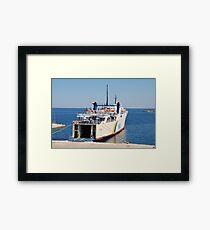Proteus ferry, Alonissos Framed Print