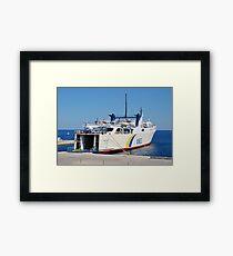 Proteus ferry, Patitiri Framed Print