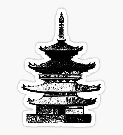 Pagoda Sticker