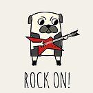 Rockstar Pug by cartoonbeing