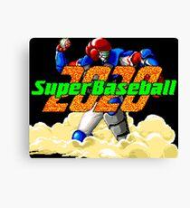 Super Baseball 2020 (SNES Title Screen) Canvas Print