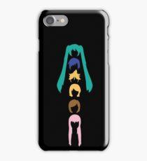 Vocaloid Heads (black) iPhone Case/Skin
