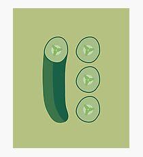 Cucumber Photographic Print