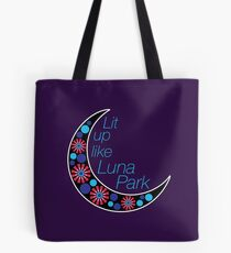 Lit Up Like Luna Park Tote Bag