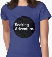 Seeking Adventure. Women's Fitted T-Shirt
