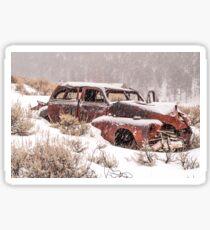 Auto in Snowstorm Sticker