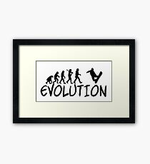 Snowboard Evolution - Funny design Framed Print