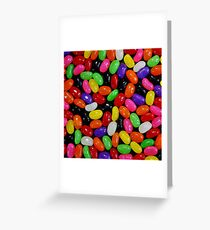 Colorful Jelly Beans Greeting Card