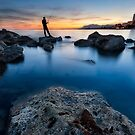 Fishing The Sunset #1 by servalpe