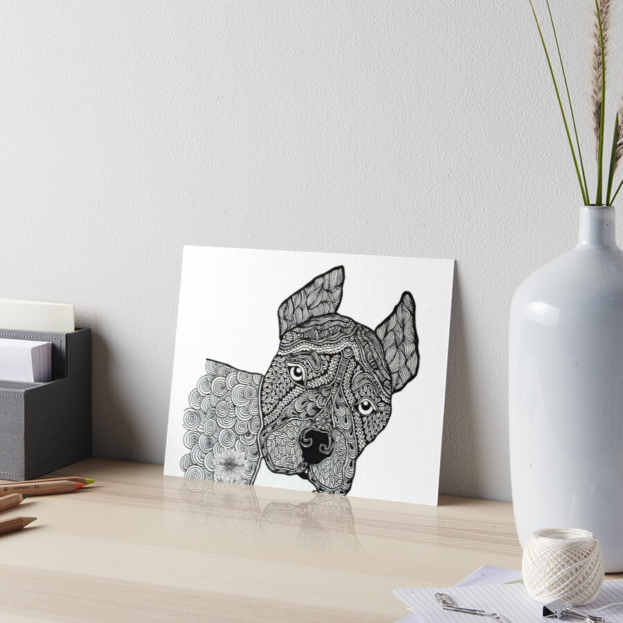 Zentangle Pitbull by LauraGarciaD