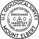 BENCHMARK MOUNT ELBERT COLORADO SAN ISABEL NATIONAL FOREST ROCKY MOUNTAINS CLIMBING HIKING GEOCACHING by MyHandmadeSigns