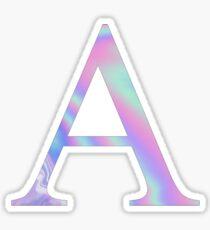 Alpha-  Holographic - Greek Letter Sticker