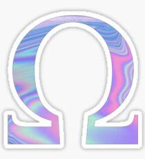 Omega-  Holographic - Greek Letter Sticker