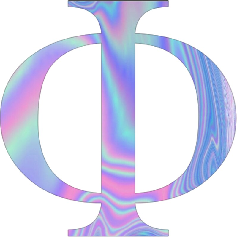 Phi Holographic Greek Letter