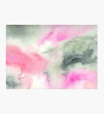 Abstract watercolor - green and pink Photographic Print